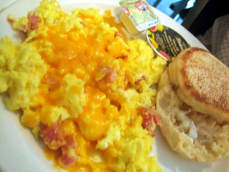 Also ordered were the souffled eggs ($3.25) with cheddar cheese (+$0 ...