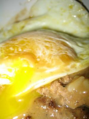 Ken's Loco Moco Closeup