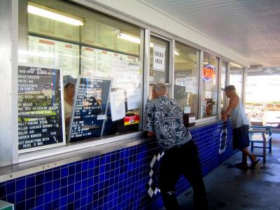 Blane's Drive Inn Ordering window