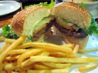 Burger Deluxe and Fries