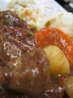 beef stew closeup